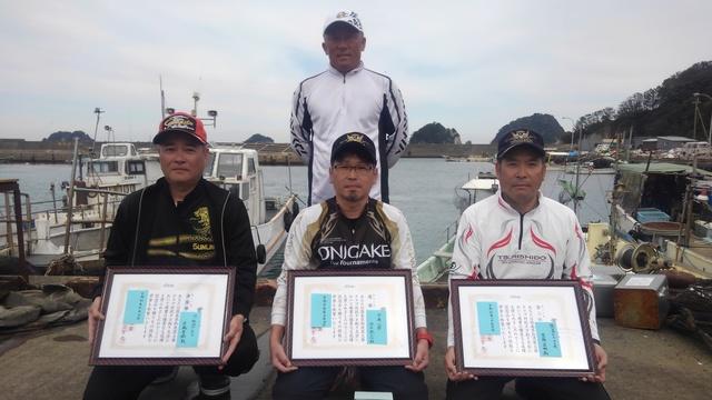 徳島県釣連盟クラブ対抗チヌ釣り大会1回目入賞者の皆さん.JPG
